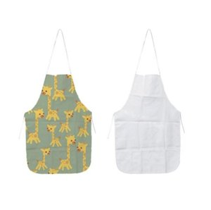 Sublimation Blanks Kitchen Apron DIY White 70x48 CM All Seasons Oil Proof Antifouling Canvas Uniform Scarf Printing Hot Sale SN2242