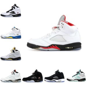 New Mens Basketball Shoes 5 5s White X Sail Alternate Bel Designers Fire Red Silver Tongue Island Green Oregon What The Trainers Sneakers F3