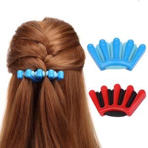 Леди девушки французские волосы плетение инструмент Weave Gunge жгут поворот волос Briterer DIY стайлинг инструмент HOLDR CLIP