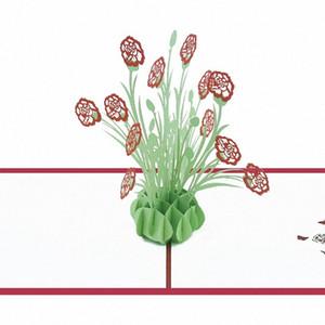 3D della novità apre Ringraziamento Carte Fiori anniversario della carta da regalo Cherry Tree Nozze Inviti Saluto N uLUx #