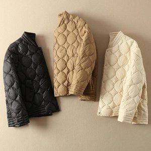 Manteau d'hiver des femmes ultra léger vers le bas Veste coréenne de canard blanc Manteau de duvet Femmes Slim Puffer Veste chaude parka Casaco YY1520