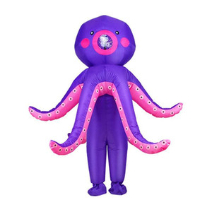 Octopus Inflatable Suit Inflatable Octopus Costume Blow Up Funny Dress Up Clothing For Halloween Cosplay Kids Adults