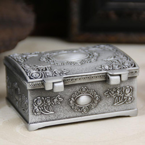 New Arrived Vintage Retro Metal Pewter Tin Alloy Jewelry Gift Box, Necklace Pendant Earrings Ring Packaging Boxes 200pcs