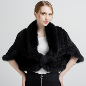 NH Women's Real Fur Shawl High Quality Natural Coat with Fur Collar Thick Warm Winter Fashion New Arrival LTPW0111