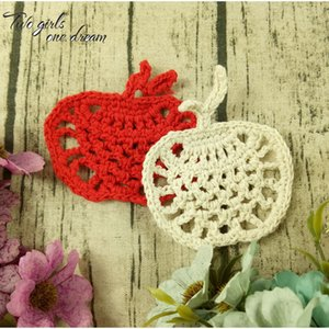 Original DIY 10CM Apple Coaster Crochet Doisies Table de mariage Decor Table de mariage Doiement Accessoires de vêtements 40pcs / Lot C0116