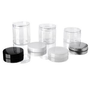 30 40 40 60 80 ملليلتر جرارات بلاستيكية شفافة البلاستيك تخزين صناديق صناديق جولة زجاجة مع البلاستيك / الألومنيوم أغطية HWC3510