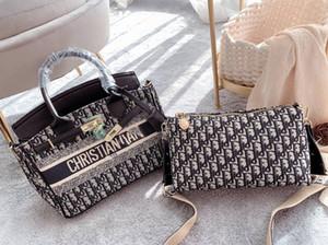 2021 Fashion new hot style shopping basket embroidered canvas bag luxury high quality handbag bag women handbag