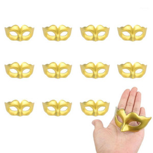 12 unids Mini Mascarada Party Mardi Gras Halloween Party Decoration Mask Stand Up Topper Mask1