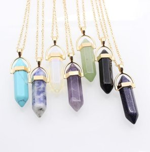 European and American fashion jewelry factory direct popular double-layer moon diamond hexagonal column necklace clavicle chain wholesale