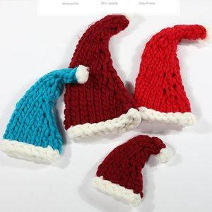 Fashion New Santa Claus Hat Knitted Christmas Hat Soft Wool Knitted Christmas Eve Decoration