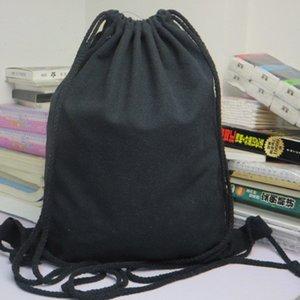 mulheres homens com cordão mochila de lona Sólidos curso armazenamento saco com cordão mochila bolso saco de desporto bolsa Worek plecak sznurek