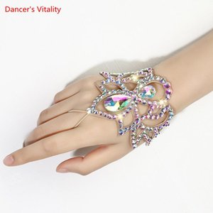 Belly Dance Female adult High-end Elegant Bracelet Exquisite Rhinestone Matching Accessories Mittens