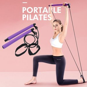 Pilates Bar Rod Resistencia Bandas Portátil Pilates Ejercicio Stick Home Gym Gym Yoga Stick For Cuerpo Entrenamiento