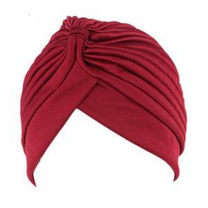 솔리드 컬러 Leica Indian Hat 아랍 헤드 드레스 이슬람 여성의 머리띠