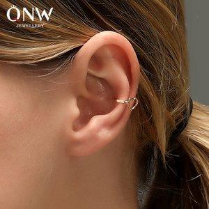 Simple ear clip female temperament hollow love ear clip without pierced earrings sweet heart-shaped ear bone clip earrings