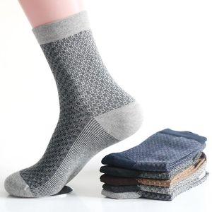 Inverno Masculino Ropa 5 pares / Lot Casual respirável Grade de algodão quente longo tubo Socks Homens de negócios Loafers sokken Chaussette Homme