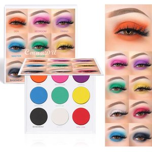 CmaaDu 9 Colors Matte Shimmer Eyeshadow Palette Waterproof Glitter Diamond Pigment Highlighter Eye Shadow Powder Makeup