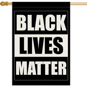 Double Sided Black Lives Matter Garden Flags, 12x18inch 100% Polyester, Yard Sign Graden Flags, Free Shipping