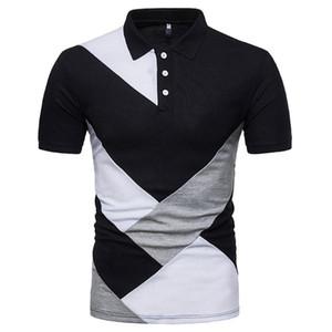 Wisefin 2020 novos homens camisa homem verão costura casual respirável tops homens manga curta alta quantidade diária tee d30