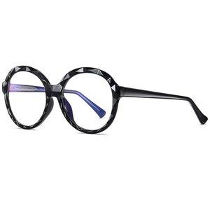 Репрессия Sun Glasses Blue Optical 2020 Blocking круглые женские женские храмовые солнцезащитные очки очки Eyeglasses UV400 светлое стекло BXUHD