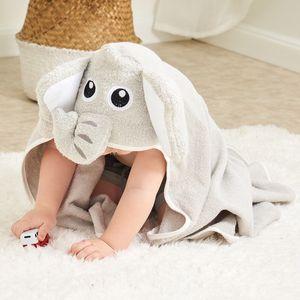 Elephant Cartoon Baby Towel Cotton Newborn Hooded Blanket Comfortable Soft Toddler Cloak Bathrobe Wipe Cloth Infant Supplies 201019