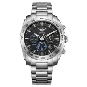 Hombres Tritium Watch, Yelang Mens Eco-Drive Mens Military Relojes de pulsera T100 Luminoso Impermeable Cronógrafo Reloj Reloj Reloj Hombre T200409