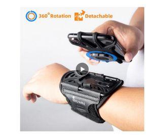 Abnehmbare rotierenden Sporttelefon das Armband am Handgelenk Beutel Erzeugungs Mitnehmen Navigations Armbeutel fitness Fahr Reise cycling