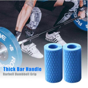 1 Pair Barbell Dumbbell Grips Thick Bar Handles Pull Up Weightlifting Silicone Anti-slip Protect Pad Handles Training Forearm1