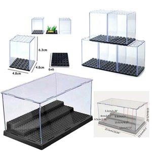 3 Steps Акрилового пыл Box Цифра Building Block Display Cabinet пыл Ассамблея Box Case Магазин Window Base Compatible yxljnq xhlove