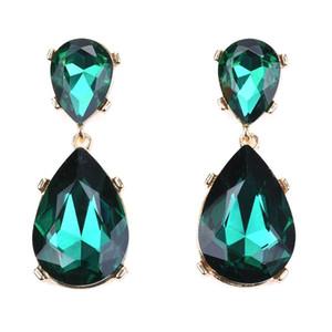 Fashion Glass Crystal Water Drop Long Earrings For Women Nigeria Wedding Bridal Drop Earrings Jewelry Female 2020 New