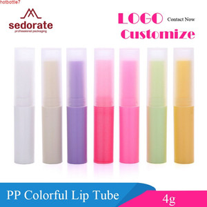 Sedorate 50 pcs Lot PP Plastic 4g Lipstick Tube Frosted Lip Balm Containers Gloss Scrub ZM006-2high quantity