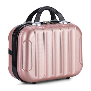 Portable Travel Bag Waterproof Cosmetic Case Storage Travel Make Up Mini Travel Suitcase Elastic Straps Beauty Case Organizer 201006