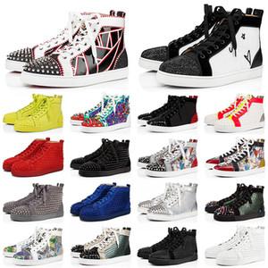 red bottoms sneakers casual shoes 2021 Nuovo arrivo Platform Uomo Donna Luxury Designer Sneakers Junior Spikes Fondo rosso Scarpe casual Mocassini Scarpe da ginnastica piatte