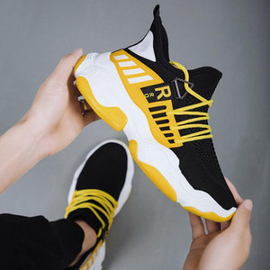 New Mens Casual Jogging Walking Shoes Fashion Men Teens Mesh Breathable Lightweight Gym Sneakers High Quality Lace Up Sports Outdoor Sneaker