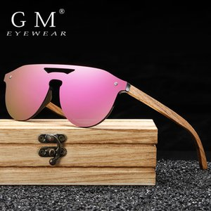 GM Women's Glasses Natural Zebra Wooden Sunglasses Men Polarized Fashion Sun Glasses Original Bamboo Oculos de sol S5030 1006