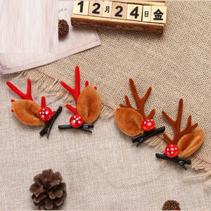 Christmas Headband Xmas Accessory Elk Antler Ear New Year Hairband Hairclip Fashion Headwear Hair Accessories 200929