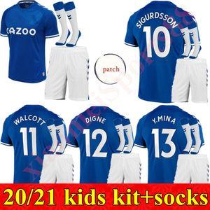 7 Richarlison 20 21 Everto football maison Maillots 2020 2021 SIGURDSSON DIGNE Cenk Tosun ANDRE GOMES GBAMIN enfant jeunesse kit enfants MAILLOT DE FOOT