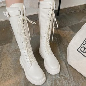 Autumn Winter New Knight Boots Net Retro College British Style Thick Bottom Thick Heel Motorcycle Boots Fashion 2020