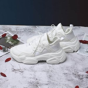 New Women's Chunky Sneakers Basket Women Casual Platform Shoes Canvas Female Trainers Ulzzang Dad Shoes High Top Sneakers 201118