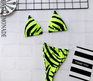 Animal Love Sexy LEMONADE stampa trasparente Strap Bra due parti delle donne del costume da bagno'S Bikini99