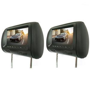 2 adet 7 inç Arka Monte Araba Kafalık Evrensel HD Dijital Ekran Görüntü LCD Ekran Çifti Kafalık TV Ekran Hot1