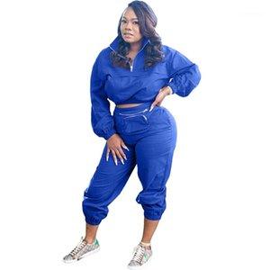 패킷 Lepal 목 여성 정장 여성 패션 두 조각과 운동복은 캐주얼 Soild 컬러 여자 설정