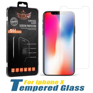 Screen Protector For iPhone 12 PRO MAX XR XS 6S 8 PLUS Samsung A71 LG Stylo 6 Tempered Glass Protector Films 1 Pack In Retail Box