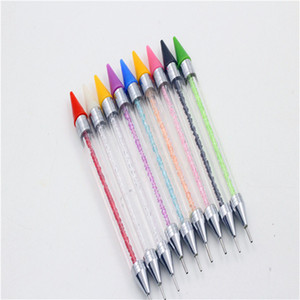 New Wax Head Point Drill Pen Double Head Nail Point Drill Crayons 8 Colors DIY Nail Painting Art Decoration Diamond Draw Tools Compar