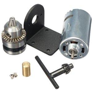 소형 핸드 드릴 척 그리고 마운팅 브라켓 DC 모터와 HOT-DC 12-36V 선반을 눌러 555 모터