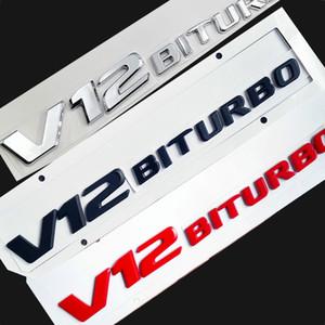 V12 Bitroubo logo شعار شارة لمرسيدس بنز C63 E300L درابزين الجانب سوبر كاربا شعار سيارة التصميم ملصقا