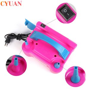 220V AC Electric Balloon Inflator Double Hole Inflatable Air Ballon Pump Birthday Balloons Fast Aerated Tool Ballons Accessories 1027