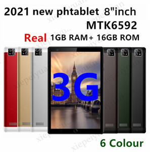 2021 Octa Core 8 Zoll MTK6592 IPS Kapazitive Touchscreen Dual Sim 3G Tablet Telefon PC Android 5.1 4 GB 64GB