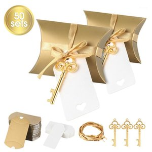 50Pcs Set Candy Box Key Bottle Opener Wedding Favor Gift Baby Shower Holiday Party Supplies1