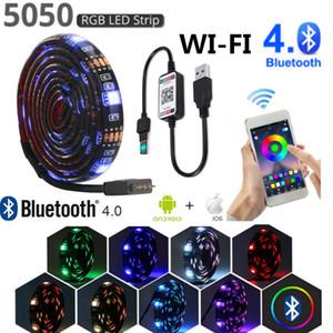 wifi led strip light waterproof usb 5V RGB SMD5050 waterproof Flexible neon light Tape for pc TV LED Lamp app Bluetooth control